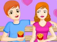 Флеш игра Поцелуи в закусочной