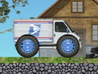 Флеш игра Почтовый грузовик