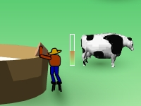 Флеш игра Подои корову