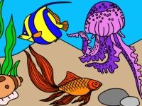 Флеш игра Подводный мир: Раскраска 2