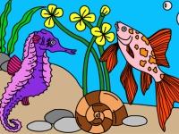 Флеш игра Подводный мир: Раскраска 3
