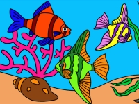 Флеш игра Подводный мир: Раскраска 4