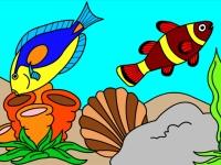 Флеш игра Подводный мир: Раскраска 5