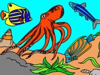 Флеш игра Подводный мир: Раскраска