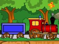 Флеш игра Поезд из фигурок 1
