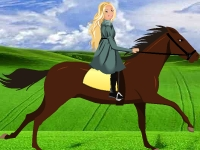 Флеш игра Поездка Барби на лошади