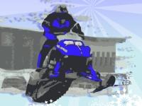 Флеш игра Поездка на снегоходе