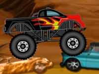 Флеш игра Погром машин на грузовике