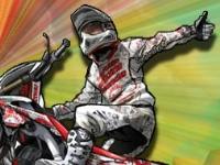 Флеш игра Погром машин на мотоцикле 2