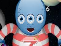 Флеш игра Поиск чисел с космическими пришельцами