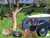 Флеш игра Поиск предметов в саду