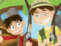 Флеш игра Поиск слов: рыбалка