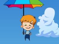 Флеш игра Полет мальчика с зонтиком