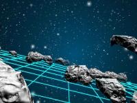 Флеш игра Полет сквозь поле астероидов