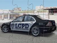 Флеш игра Полицейская машина Мерседес Бенц: Пазл