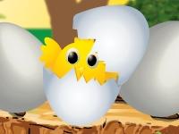 Флеш игра Помоги цыпленку вылупиться