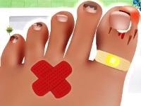 Флеш игра Поврежденные пальцы ног