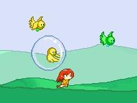 Флеш игра Поймай птичек