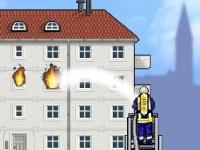 Флеш игра Пожарный