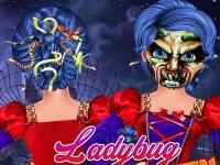 Флеш игра Прическа для Леди Баг на Хэллоуин