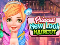 Флеш игра Прическа с цветом клубничный блонд для Рапунцель