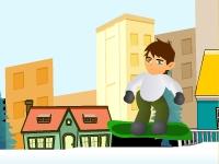 Флеш игра Приключения Бена 10 на сноуборде