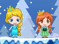 Флеш игра Приключения Эльзы и Анны