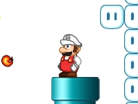 Флеш игра Приключения Марио в облаках