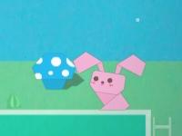 Флеш игра Приключения бумажного кролика