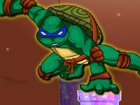 Флеш игра Приключения черепашки ниндзя Леонардо