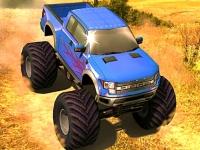 Флеш игра Приключения на грузовике-монстре 3D