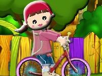 Флеш игра Приключения на велосипеде
