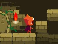 Флеш игра Приключения огненной и ледяной звезды в храме