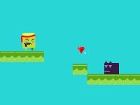 Флеш игра Приключения зеленого квадрата 3