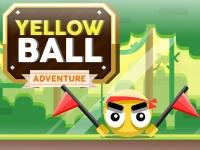 Флеш игра Приключения желтого шара