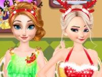 Флеш игра Принцессы Диснея празднуют Новый Год