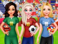 Флеш игра Принцессы голосуют на чемпионате мира по футболу 2018