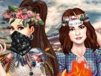 Флеш игра Принцессы готовятся к Burning Man