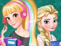Флеш игра Принцессы идут в школу