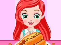 Флеш игра Принцессы на конкурсе поедания хот-догов