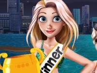 Флеш игра Принцессы на конкурсе серфинга