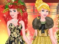 Флеш игра Принцессы на новогоднем показе мод