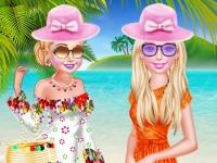 Флеш игра Принцессы отдыхают на пляже