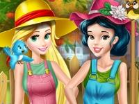 Флеш игра Принцессы трудятся в саду