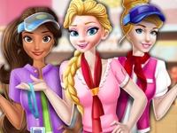 Флеш игра Принцессы устраиваются в супермаркет