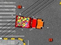 Флеш игра Припаркуй грузовик Санты