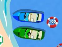 Флеш игра Припаркуй моторную лодку