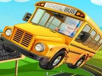 Флеш игра Припаркуй школьный автобус