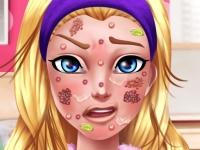 Флеш игра Проблемы с лицом у Барби