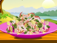 Флеш игра Пряный салат из тунца и трав